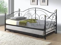 cream metal bed frame milano metal day bed with adjustable bed underneath in either