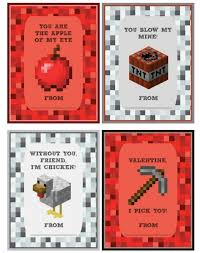 minecraft valentines cards 5 printable minecraft sets for the classroom cool tech