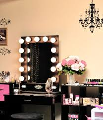 Black Vanity Table With Mirror Bedroom Black Mahogany Wood Dressing Table With Lighted Mirror X