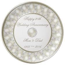 anniversary plates 30th wedding anniversary plates zazzle