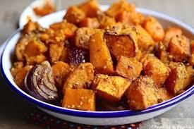 patate douce cuisine courge butternut et patate douce aux épices et graines