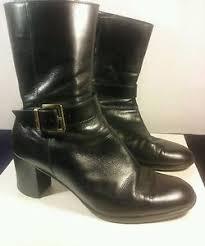salvatore ferragamo s black leather quarter calf boots size