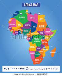 africa map vector color map africa all objects stock vector 444266845