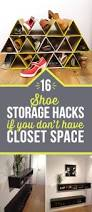16 genius shoe storage hacks if your closet space
