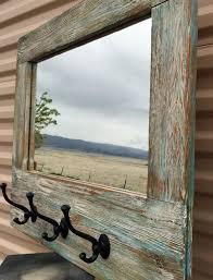 barn wood mirror barnwood coat rack nautical wall mirror