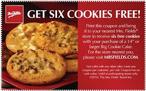mrs fields cookie cakes mrs fields printable coupon expires ongoing
