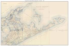 Southampton New York Map by Old Usgs Topographical Maps Of Long Island New York Large
