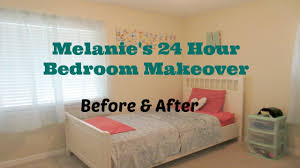 24 hour bedroom makeover before and after youtube