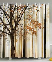 shower curtain fall trees print gift ideas