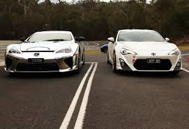 lexus equivalent to toyota lexus lf a versus toyota 86 gymkhana on track who wins p