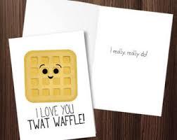 waffle card etsy