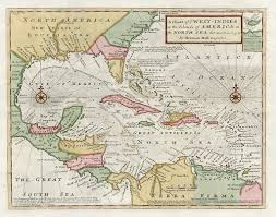 Map Of West Indies A Chart Of Ye West Indies Or The Islands Of The Americas In The