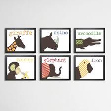 Animal Wall Decor For Nursery Luxury Childrens Animal Prints Children S A4 Print Nursery