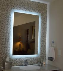 Bathroom Mirror With Lights Built In Lighted Bathroom Mirrors Mirrors Wall Mounted Lighted