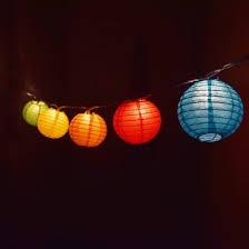 multi colored paper lantern string lights 10 socket