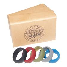 Mechanic Wedding Ring by Silicone Wedding Bands For Men 5 Rings Pack U2013 Designed For Active