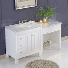 bathroom sink cabinets with marble top silkroad exclusive 67 transitional bathroom vanity carrara marble