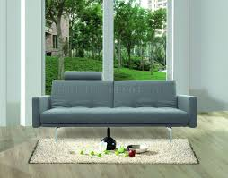 Sofa Bed Metal Frame Dark Grey Fabric Contemporary Sofa Bed Steel Metal Frame
