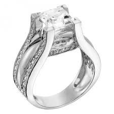 sapphire studios black moissanite white engagement rings multi stone abigail engagement ring