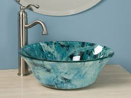 bathroom sink captivating waterfall faucet with vessel sink and