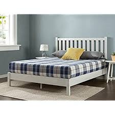 amazon com zinus wood country style platform bed with headboard