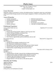 Resume Through Email Sample by Sample Resume Caregiver Caregivers Companions Resume Sample My