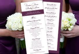 purple wedding programs color monday vision of wedding programstruly engaging