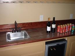 fabulous wood look tile countertops ideas with single stainless