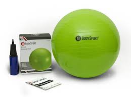 Pilates Ball Chair Size by Amazon Com Body Sport Exercise Ball With Pump For Home Gym