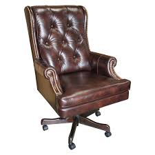 Small Leather Desk Chair House Prestige Dc 112 Leather Desk Chair Hayneedle