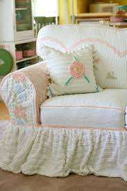 shabby chic sofa covers shabby chic sofa covers chair slip white slipcover slipcovered