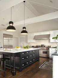 white kitchen with black island white cabinet black island houzz