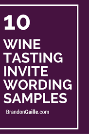 10 wine tasting invite wording samples craft