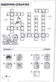printable crossword puzzles 2 coloring kids halloween crossword