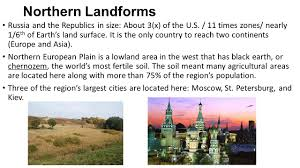 Geography Of Russia by Physical Geography Of Russia And The Republics Northern Landforms