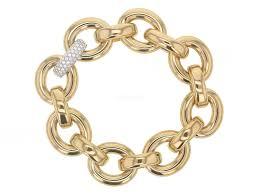 gold link bracelet with diamonds images Rina limor gold link bracelet with diamonds be on park designer jpg