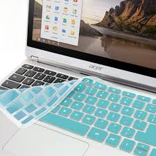 acer chromebook keyboard light amazon com gmyle turquoise blue silicon keyboard cover for acer