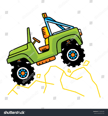 army jeep drawing cartoon car baby jeep vector stock vector 674425648 shutterstock