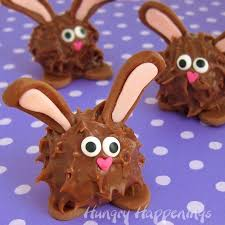 chocolate bunny ears peanut butter fudge filled chocolate easter bunnies