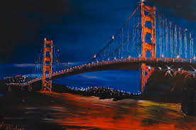 night of the golden gate bridge 1 painting by portland art creations
