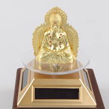 solar alloy sided buddha dashboard ornaments automotive supplies