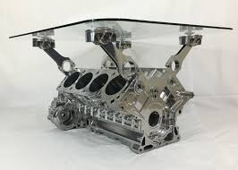 cosworth chevrolet indy v8 engine block coffee table engine