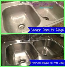 shine stainless steel sink frugal mom and wife diy frugal all natural stainless steel cleaner