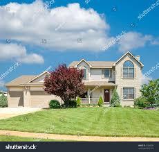 suburban home beautiful vinyl siding home stock photo 11698039