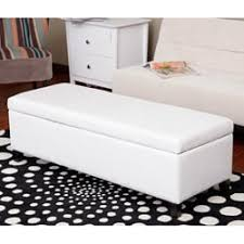 Leather Storage Bench Lucinda Faux Leather Storage Bench Free Shipping Today