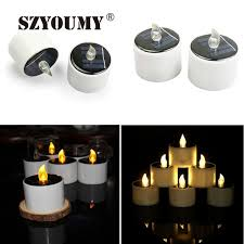 outdoor led tea lights szyoumyled solar flameless tealights candles home yard decorate