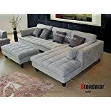 Microfiber Sectional Couch With Chaise Amazon Com 3pc Contemporary Grey Microfiber Sectional Sofa Chaise
