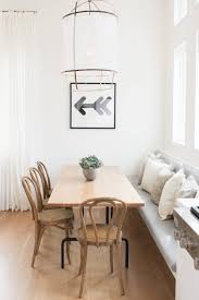 white small kitchen banquette grayish green cushion chevron