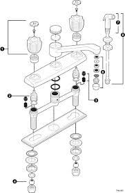 moen single handle kitchen faucet cartridge moen single handle kitchen endearing faucet repair 2 lever faucets