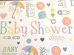 baby shower gift wrap high quality wrapping paper unisex 2